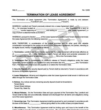 make a free lease termination letter in minutes legal
