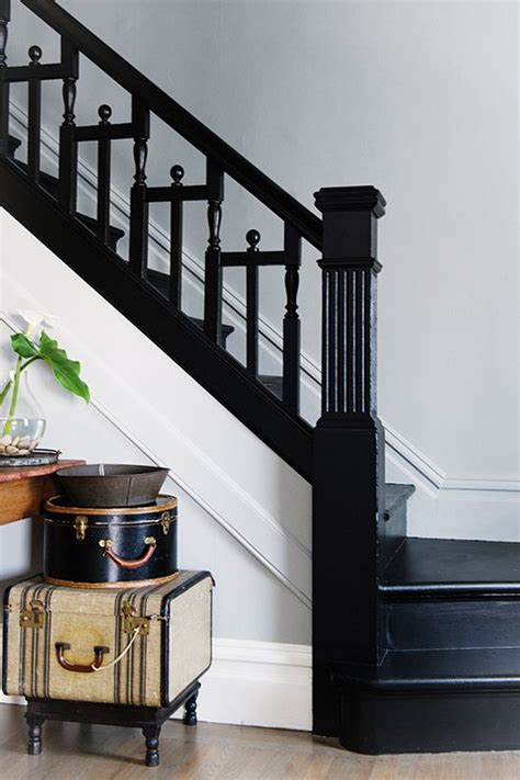 How To Paint A Banister Black by 17 Best Ideas About Black Staircase On Black Banister Painted Stairs And Style
