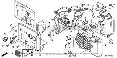 honda eu2000i parts diagram honda eu2000i a b generator jpn vin eaaj 1170001 parts