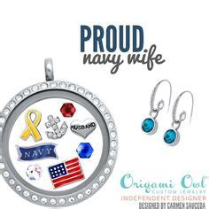 Origami Owl Designer Discount - navy strong show your support and tell your story with