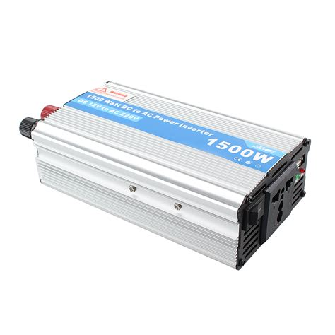Ac Lazada 1500w power inverter adapter dc 12v to ac 220v for car