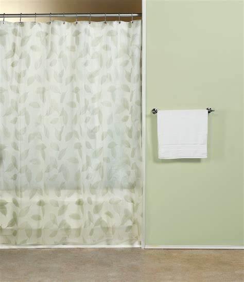 Contemporary Shower Curtains Curtain Bath Outlet Modern Leaf Vinyl Shower Curtain
