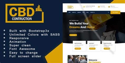 simple construction html template 26 building construction html5 templates free premium