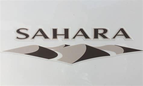 jeep wrangler sahara badge decal   aa