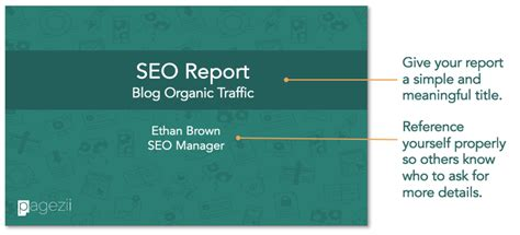build your sle seo report template pagezii
