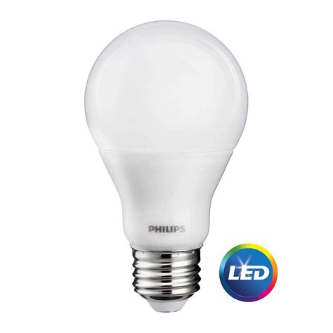 Led Light Bulbs 60w Equivalent Philips 60w Equivalent Soft White Cri90 A19 Dimmable Led Light Bulb 465187 The Home Depot