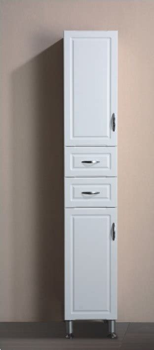 China Practical Free Standing White Color Mdf Bathroom Bathroom Freestanding Storage Cabinets
