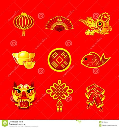 new year symbols list new year symbols stock vector illustration of