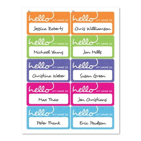 Name Tag Sticker Paper