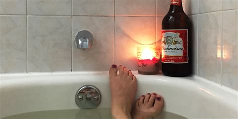 beer bathtub we bathed in beer to try and remove toxins from our body