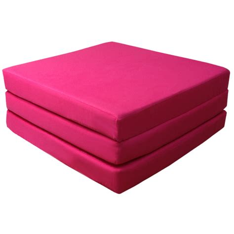 folding foam bed childrens pink guest z bed foam cube sofa seat sleeping