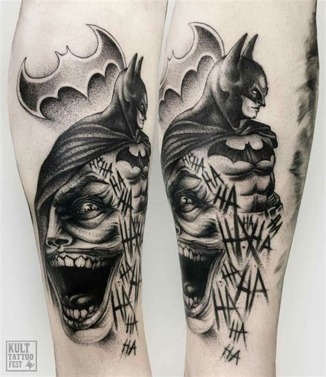 joker batman tattoo designs collection of 25 batman n joker tattoo design