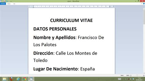 Modelos De Curriculum Ya Hechos 191 curriculum vitae o personal jcaceres