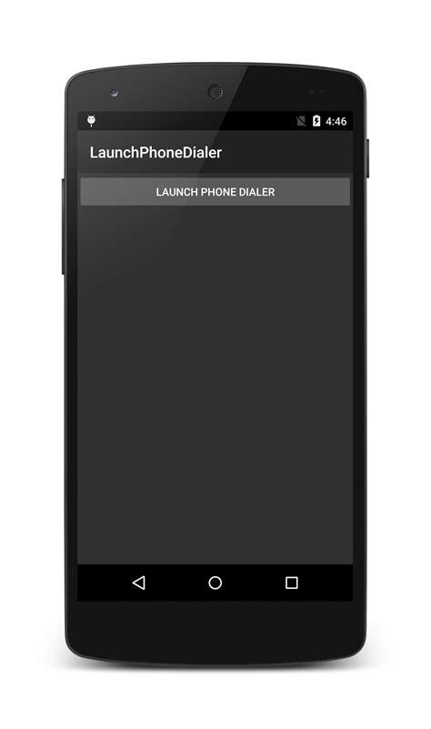 mobile dialer launch the phone dialer xamarin