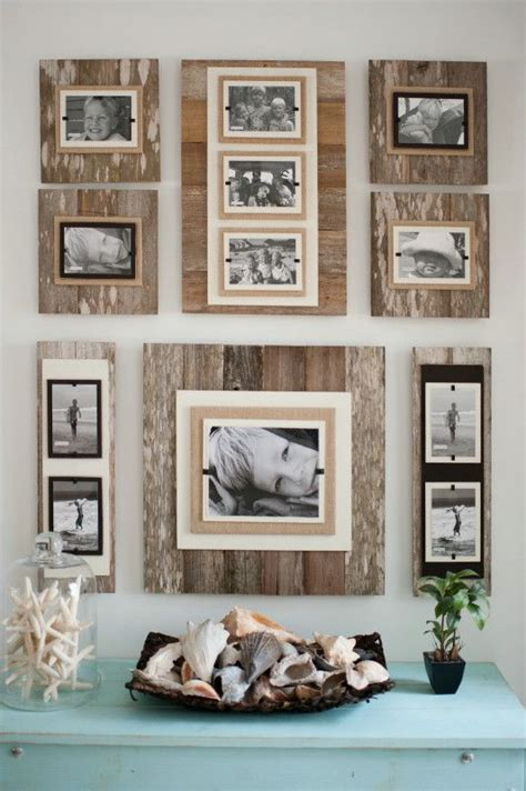 wall frame ideas reclaimed wood 22 x 22 frame 8 x 10 photo brown classy