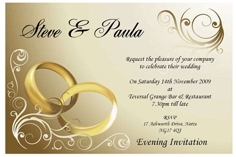 married card template marriage invitation templates invitation templates