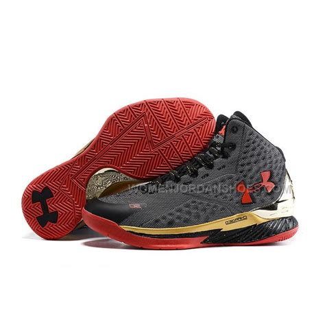 curry shoes armour ua curry one 2015 black gold basketball
