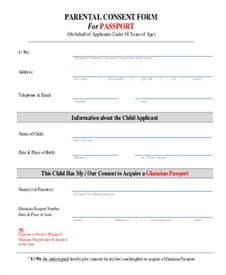 Sample Consent Letter For Minor Passport passport consent form sample 5 examples in pdf