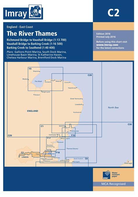 imray river thames map imray chart c2 the river thames todd navigation