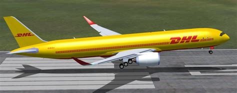 dhl airbus a350 900f cargo for fsx