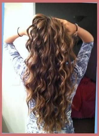 image result  loose spiral perm  long thin hair