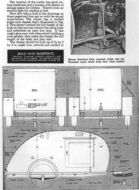 teardrop trailer plans free teardrop trailer plans 1947