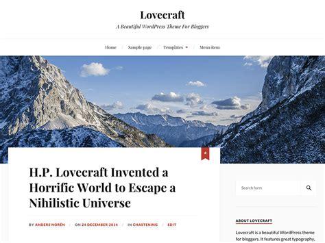 Theme Lovecraft Blog | theme directory free wordpress themes