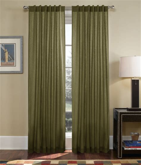 Olive Curtains set of two window curtains