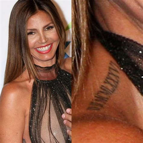 charisma carpenter tattoos charisma carpenter date numeral shoulder