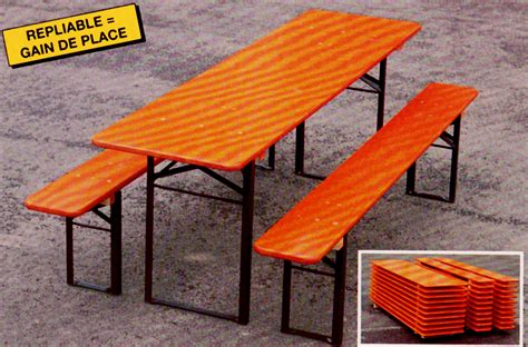 table et banc pliant tables et bancs pliants