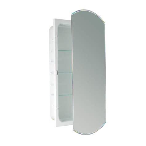 deco bathroom mirror cabinet deco mirror 16 in w x 30 in h x 4 1 2 in d frameless