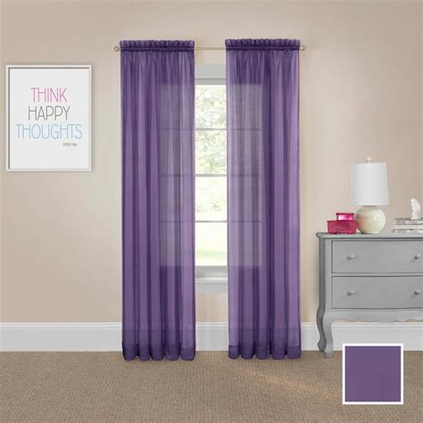 drapes to go pairs to go victoria voile 95 in l polyester rod pocket