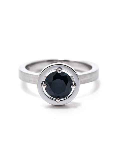 blue australian sapphire engagement ring e g etal