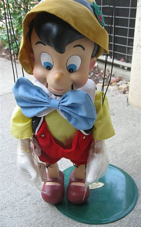 walt disneys pinocchio animated puppet marionette  telco sings dances  inches ronsussercom