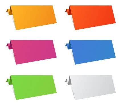 colorful origami paper sheets vector art ai svg eps