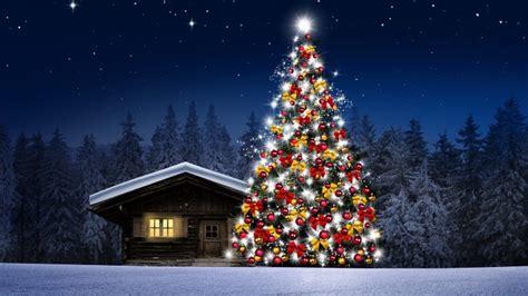 imagenes full hd de navidad arbol de navidad casita noche fondos de pantalla hd