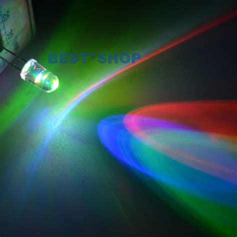 100 5 Pcs Rainbow aliexpress buy 100pcs 5mm fast rgb flash green