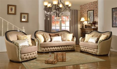 Traditional Curved Sofa by Lafayette Traditional Curved Beige Loveseat With Black