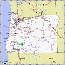 road map of oregon and washington state