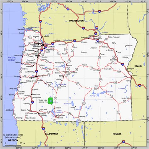 oregon state map road map of oregon and washington state