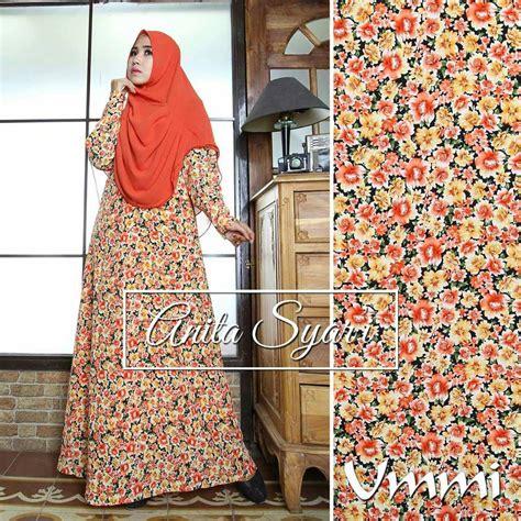 Manset Busui merah bata baju muslim gamis modern