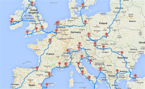 road map of europe europe road trip map by randy list