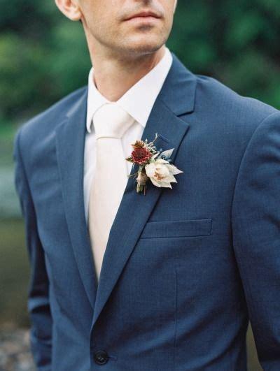 rustic outdoor georgia wedding navy suit wedding blue