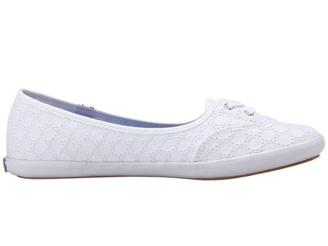white eyelet sneakers keds teacup eyelet in white lyst
