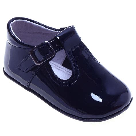 navy baby shoes baby navy patent t bar pram shoes cachet