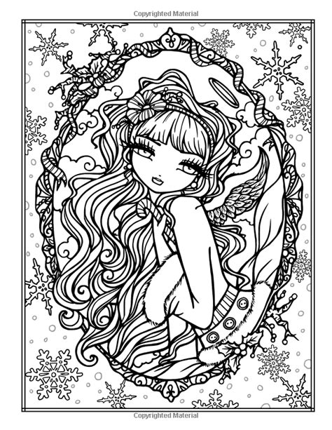 festive christmas colouring book 1908072490 amazonsmile a whimsy girls christmas coloring book festive girls fairies more