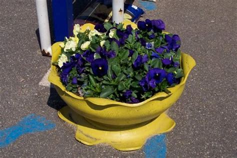 tyre planter recycled ideas recyclart
