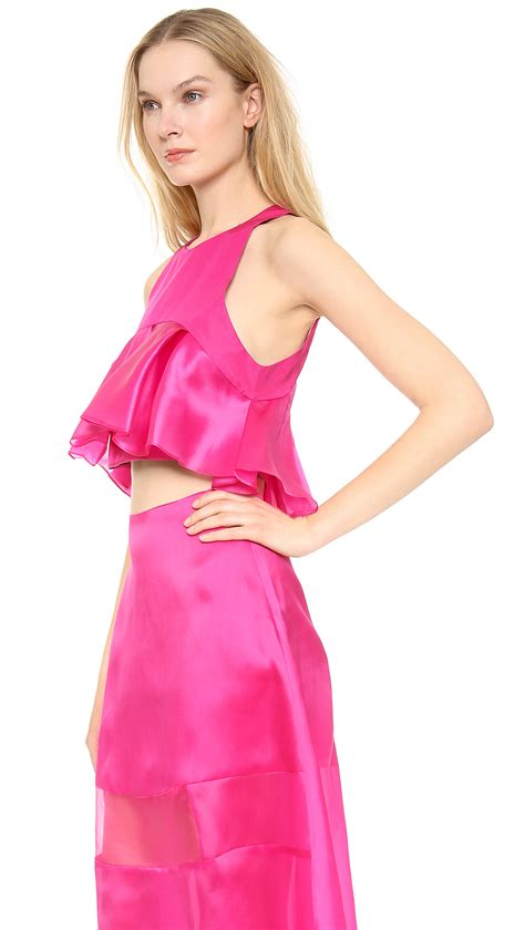 Karla Top By Unique 1 karla špetic pleated colette top fuchsia in pink lyst