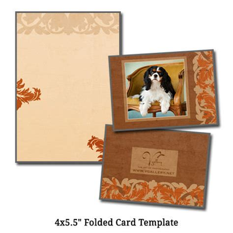 4 X 5 5 Folded Card Template by 4x5 5 Folded Card Template Pet Artcard Digital File