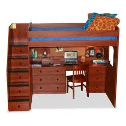 Bunk Bed With Stairs And Desk Size Loft Bunk Bed With Stairs Storage And Studying Desk Decofurnish